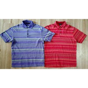 Nike Tiger Woods Mens Lot of 2 Polo Shirts Large